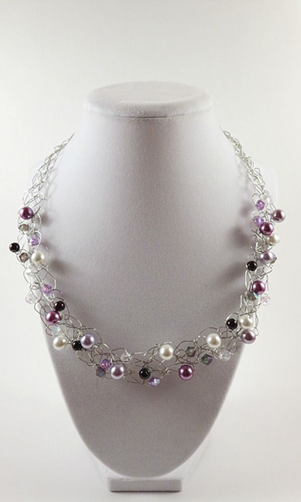 Wouldn't you love to accessorize with this statement necklace? With this purple wire necklace you can dress up any outfit! Pin now, view later! https://www.etsy.com/ca/listing/497484157/purple-wire-crochet-necklace-fashion?ref=shop_home_active_7