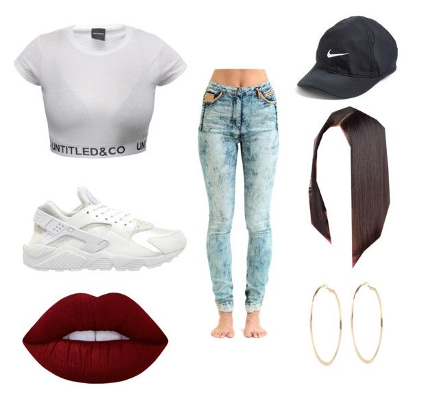 """""""#15"""" by sarah-e11 on Polyvore featuring Jena.Theo, NIKE, River Island and Lime Crime"""