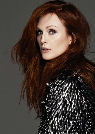 Julianne Moore - love her and this amazing color against her skin.