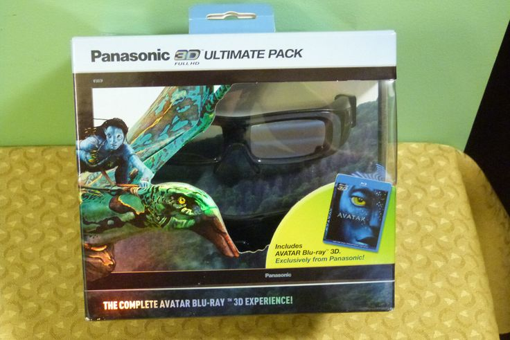 RARE Panasonic 3D Ultimate Pack  Avatar 3D Blu-Ray & 2 3D Glasses  NEW SEALED