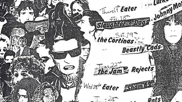 Punk 1976-78, British Library, London, UK. (Flyer from the Roxy Club Covent Garden London 1977, artwork by Barry Jones. From England's Dreaming: The Jon Savage Archive held at Liverpool John Moores University).