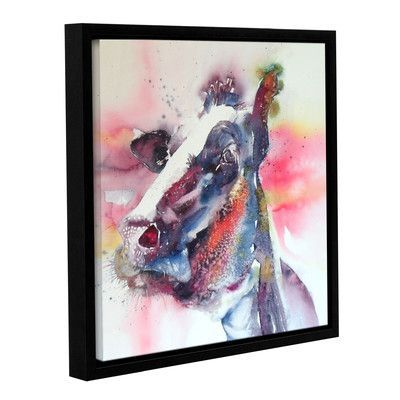 "Latitude Run Cow 30 Framed Painting Print Size: 10"" H x 10"" W x 2"" D"