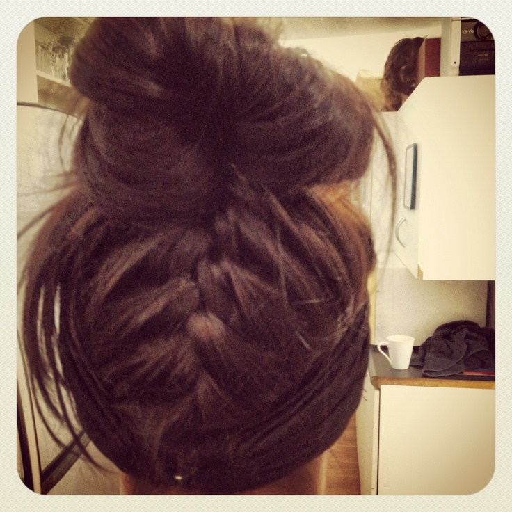 Upside down braid <3 by me