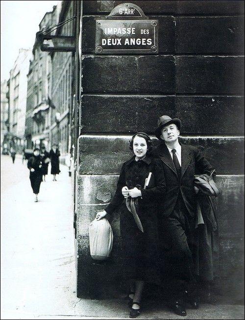 Nusch and Paul Eluard, Paris