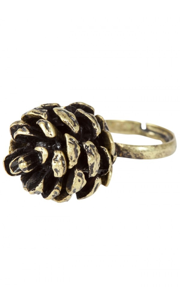 Louche Pine Cone RingLouche Pine, Belly Rings, Decor Fashion, Pinecone Rings, Fashion Styles, Fashion Before, Pine Cones Crafts, Rings Discover, Cones Rings