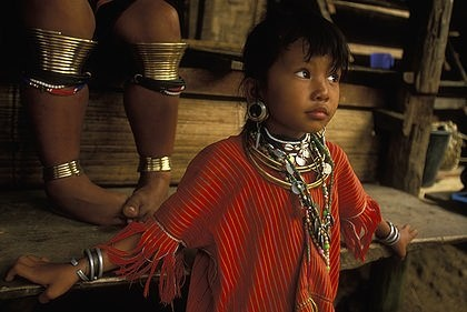 """A girl of the """"Big-Ear"""" Karen people in Nai Soi, a refugee village close to the Burmese border in Mae Hong Son, Thailand, potographer, Anders Ryman"""