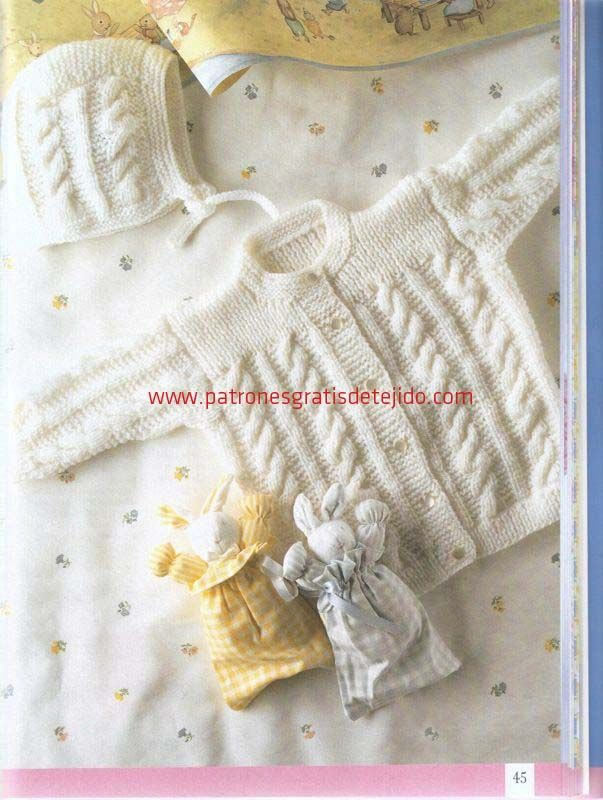 96 best tejido images on Pinterest | Baby knitting, Baby vest and ...