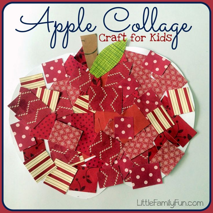Cute apple craft for kids. Great back to school craft!