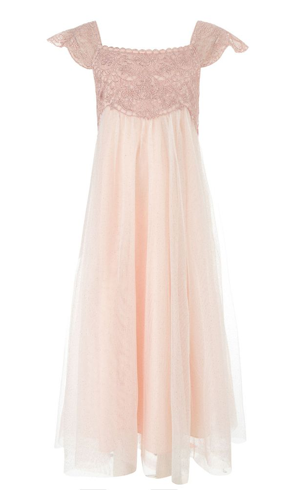 25 Fun Flower Girl Dresses for Your Alternative Wedding - Pink Beaded Estella Vintage Flower Girl Dress Monsoon