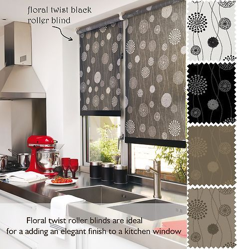 Floral Twist Patterned Roller Blinds Made To Measure