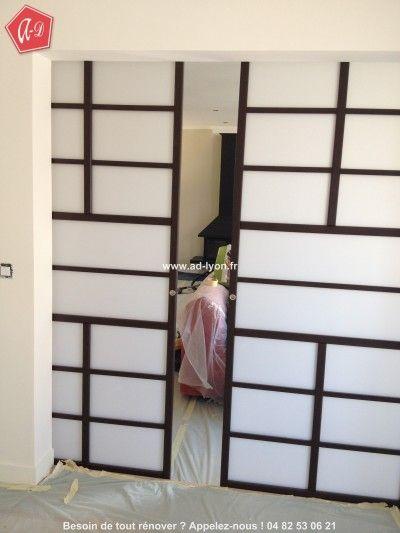 1000 id es sur le th me cloison japonaise sur pinterest porte coulissante - Monter des portes coulissantes ...