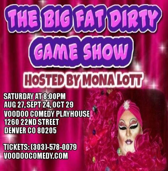 DRAG QUEEN BRINGS GAME SHOW ELEMENT TO DENVER COMEDY  Mona Lott's Big Fat…