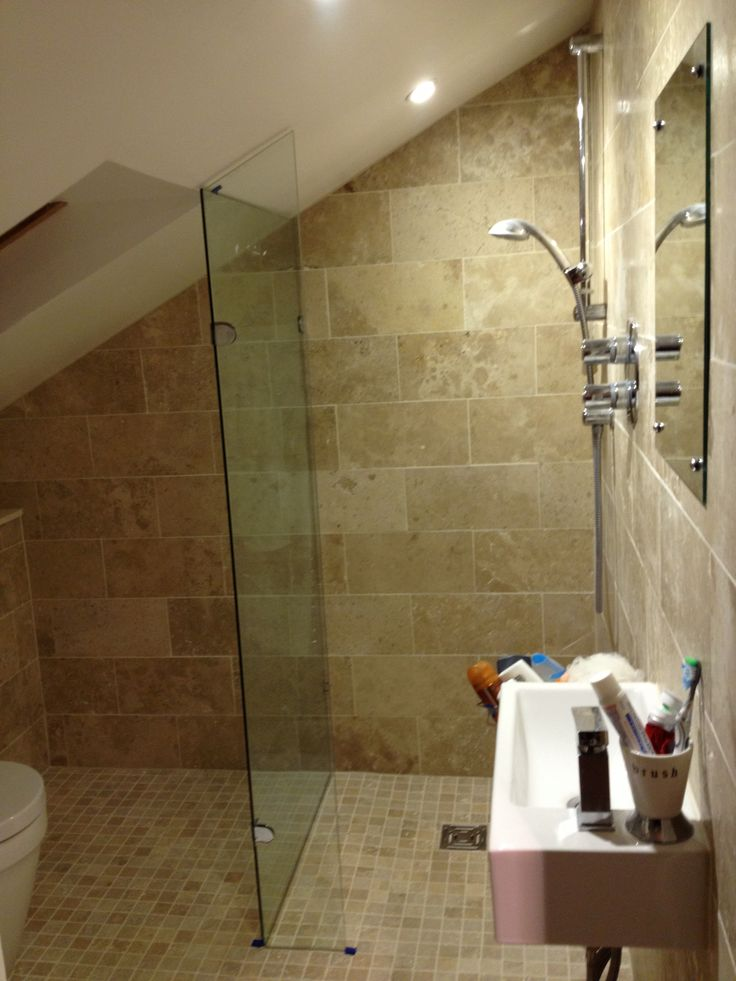 Attic wetroom bathroom joy studio design gallery best for Small ensuite wet room ideas