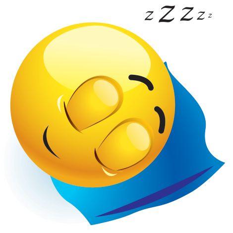 Emoticono cara durmiendo: Esta cara se utiliza para denotar cansancio, sueño o similar.