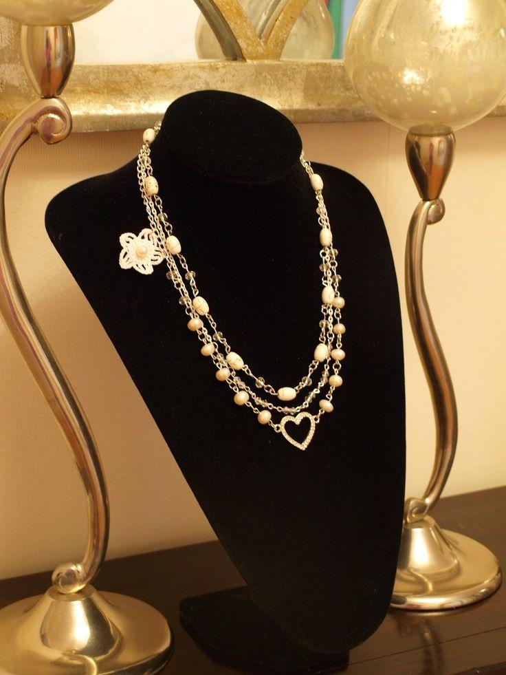 Romantic Pearls: Maravilloso!  Collar de perlas cultivadas realizado a mano. Estilo romántico y vintage. Handmade necklace of cultured pearls.