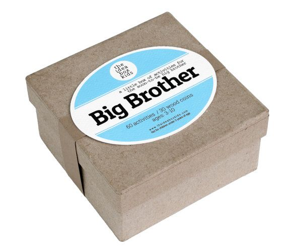 Best 12 big brother gifts from baby: big brother box with 60 activities