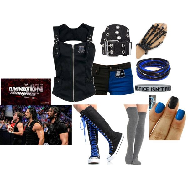 """Ringside at the Elimination Chamber for the Shield vs the Wyatts"" by lola-guadalupe-delgado on Polyvore"