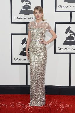 Grammy 2014 Wedding Inspiration Taylor Swift in Gucci www.everythingbridalmagazine.com