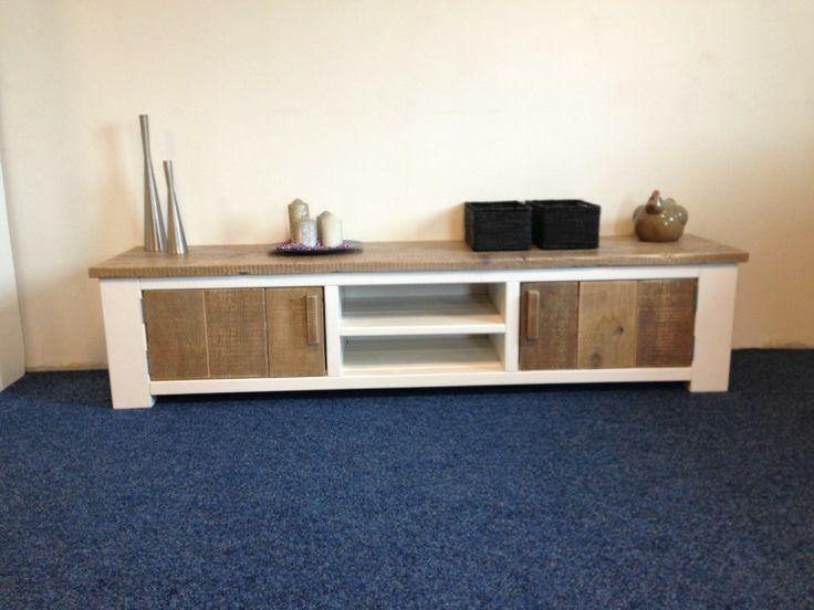 Steigerhouten tv meubel Burgerbrug - TV-meubels - Woonkamer