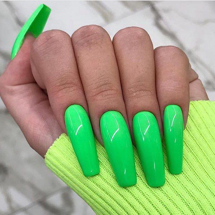 Neon Acrylic Nails Nail Care Uv Gel Nails Acrylic Nail Art Products Beauty Products Acrylic Nail A Neon Acrylic Nails Lime Green Nails Green Acrylic Nails