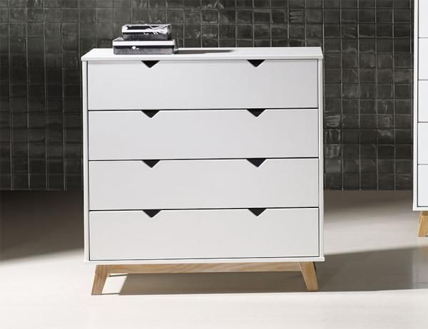 Gaudi Contemporary Chest of Drawers in Matt White or Matt Grey