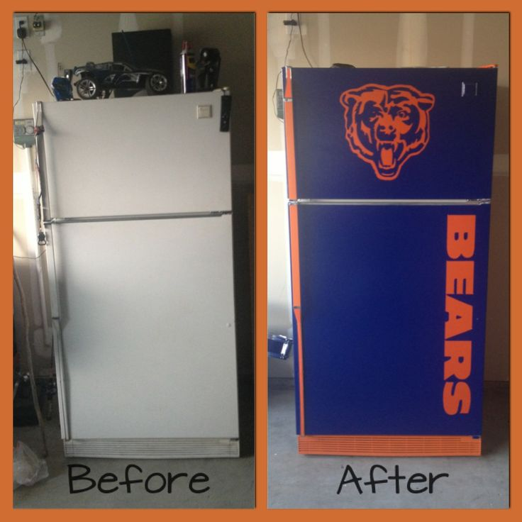 Man Cave Beer Fridge, perfect for the basement. In purple and gold obviously