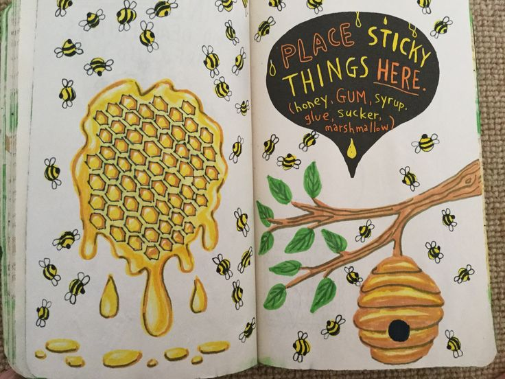 Wreck this journal place sticky things here
