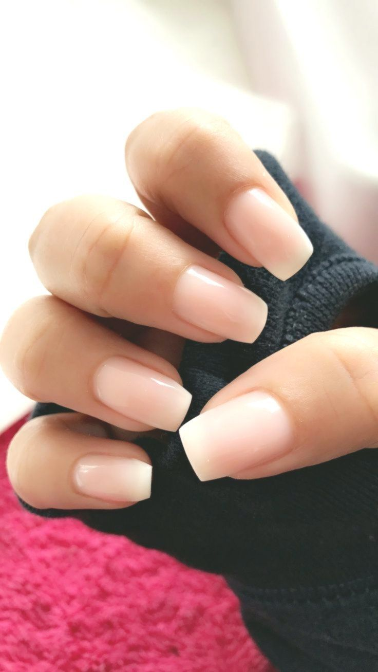 Ombre French Tips Homemadebeautyconseils Neutral Nails Acrylic