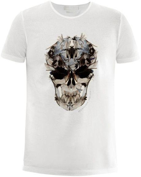 ALEXANDER MCQUEEN skull print white T-shirt