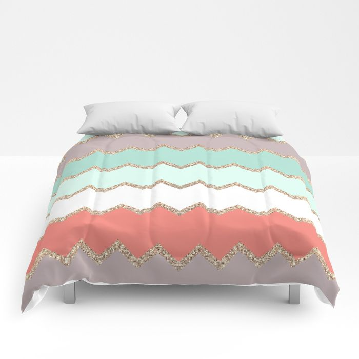 Buy AVALON CORAL MINT Comforters by monikastrigel. Worldwide shipping available at Society6.com. Just one of millions of high quality products available.