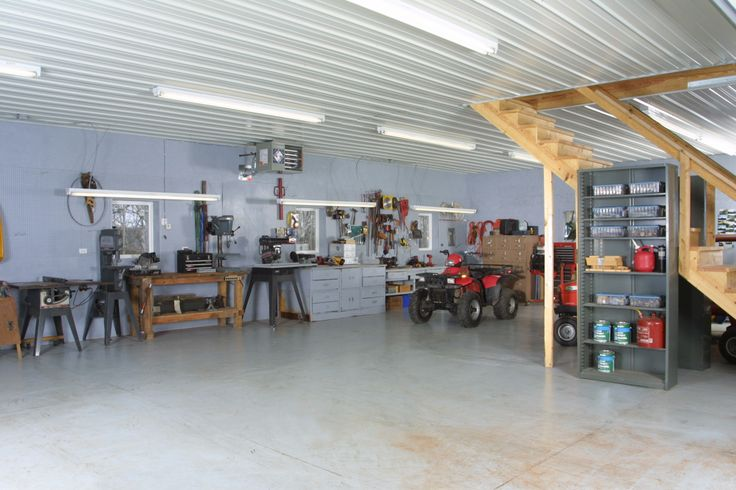 Interior Of Insulated Lined Shop With Storage Above Wick