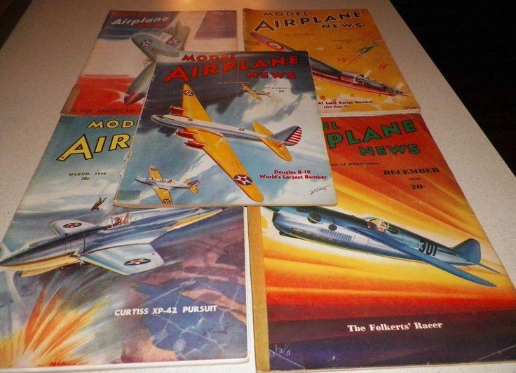1937-1942 (5) Model Airplane News Vintage Magazines Aeronautics Advertisements