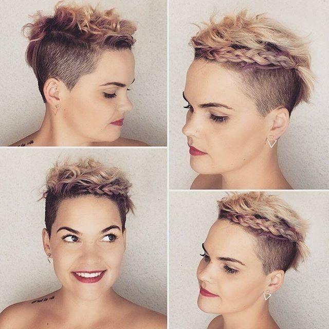 Frauen Frisur Mit Rasur Kurzhaarfrisuren Elegante Frisuren Kurzhaarfrisuren Frauen