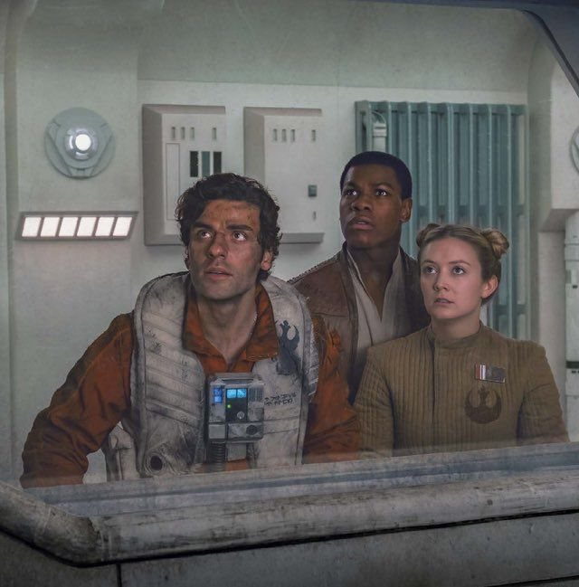 Poe, Finn and Lieutenant Connix - Star Wars The Last Jedi Great artwork, would love to credit the artist!