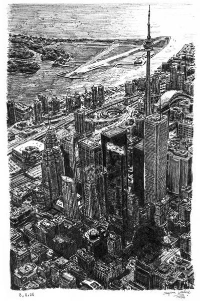 Toronto Skyline - drawings and paintings by Stephen Wiltshire MBE