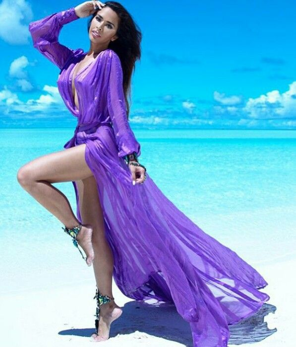 #purple #beach #dress #fashion #woman #aksesuar #mor #sky #blue #island