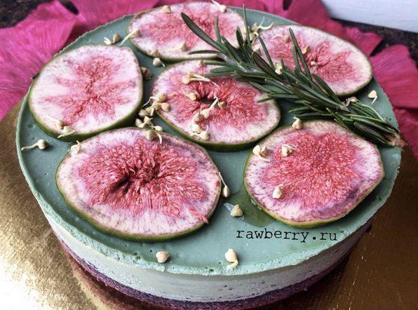 Инжирный торт сыроедческий fig raw vegan cake