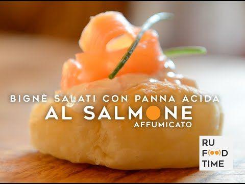 Bignè Salato con Panna Acida al Salmone - YouTube