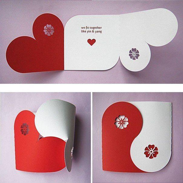 Heart embrace envelope