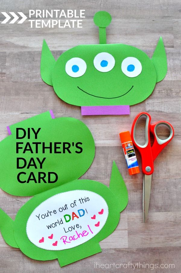 This Out of this World Kids Father's Day Card (sponsored by Elmer's) is cute, simple and makes a great Fathers Day Kids Craft. Fun DIY Fathers Day Card for kids and Father's Day Printable.