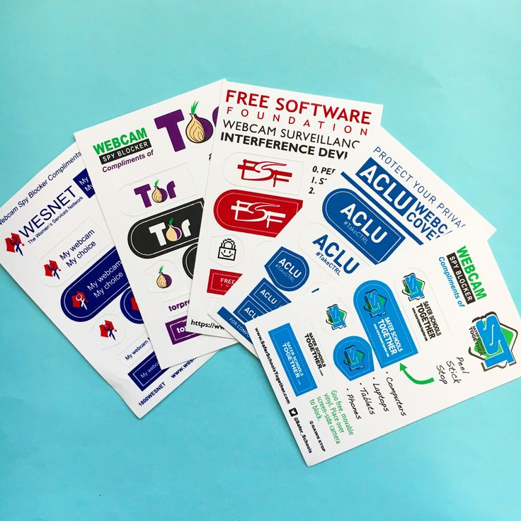 Webcam stickers are a great promo idea for schools security firms any company serious about privacy