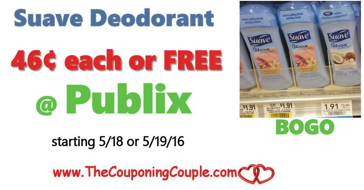 Suave Deodorant Cheap or Free @ Publix starting 5/18 or 5/19. Get ready for this awesome deal coming next week folks Great stock up price!**  Click the link below to get all of the details ► http://www.thecouponingcouple.com/suave-deodorant-cheap-or-free-publix/ #Coupons #Couponing #CouponCommunity  Visit us at http://www.thecouponingcouple.com for more great posts!