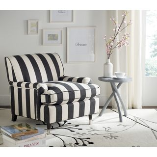 Safavieh Chloe Black / White Club Chair | Overstock.com Shopping - The Best Deals on Living Room Chairs