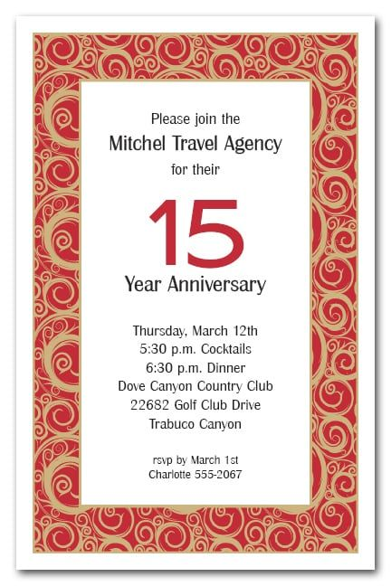 77 best business invitations images on pinterest birthday beautiful gold swirls on red these invitations are perfect for any business party invitations stopboris Gallery