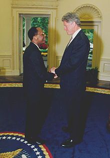 1991, September 29: President Jean-Bertrand Aristide, elected 8 months earlier in the Haitian general election, 1990–1991, is deposed by the Haitian army in a coup d'etat. On October 15, 1994, the Clinton administration returns Aristide to Haiti to complete his term in office.