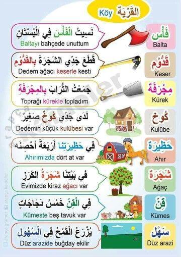 في القرية باللغة التركية