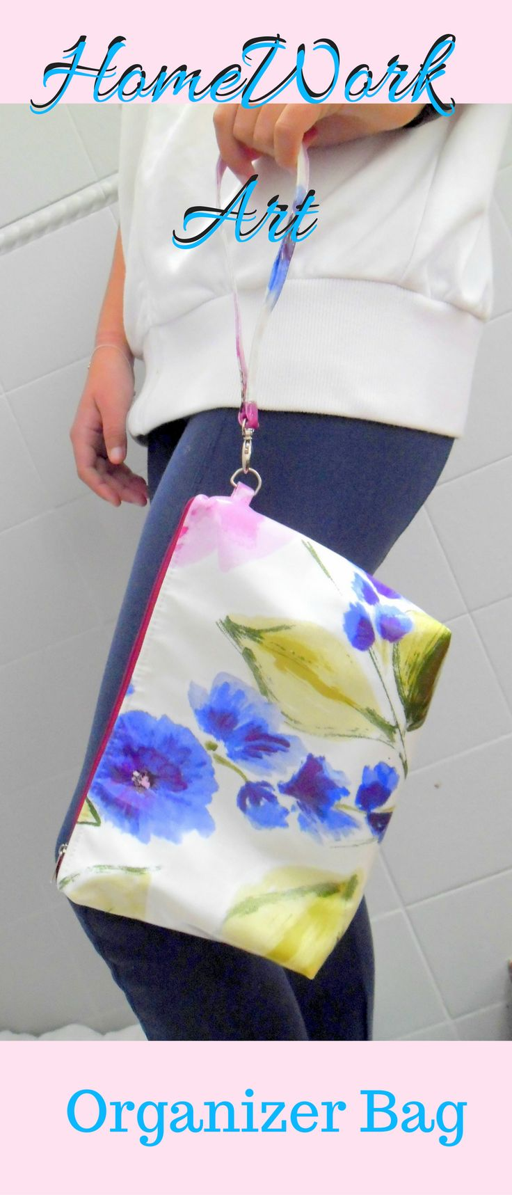 Organizer Bag oil cloth fabric, perfect gift for her