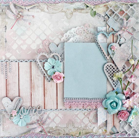 This beautiful work of art is a one of a kind item. Ive designed and created this layout with meticulous craftsmanship. This is a scrapbook page