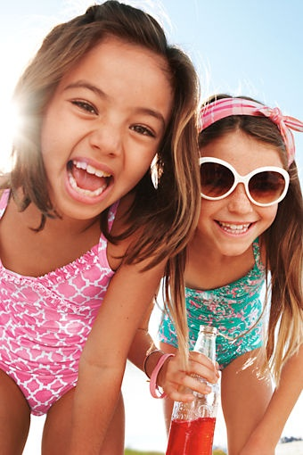 Lands' End Kids' Swim - UPF 50 Sun Protection built in to every swimsuit.