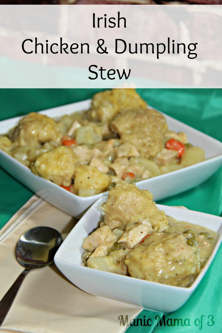 Are you looking for a meal to celebrate St. Patrick's Day or some Irish Heritage?Irish Chicken and Dumpling Stew is just what you need. This hearty meal will fill you up as we transition from the ...